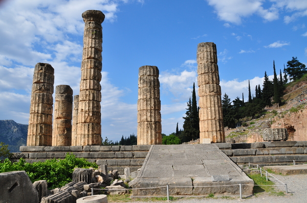 Temple of Apollo 1: The temple of apollo. This site is home to the oracle of the delphi.