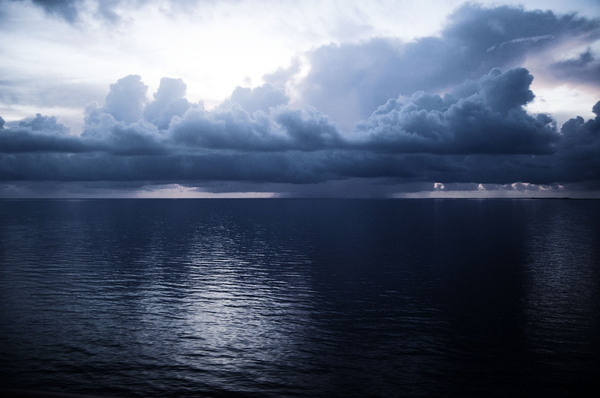 Clouds Over Sea 1: Photos taken off cruise ship to Nassau.