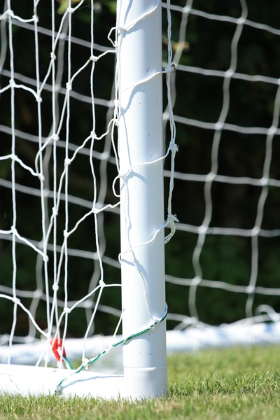 Football goal: Close-up of corner of a football/soccer goal