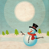 Landscape with snowmen - 1