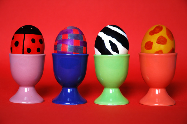 Easter eggs: Colored easter eggs