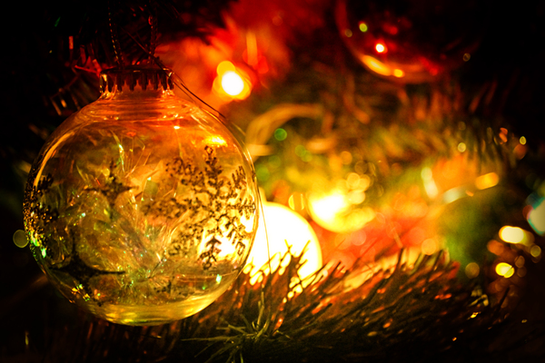 Bauble on the tree: Christmas bauble on the tree