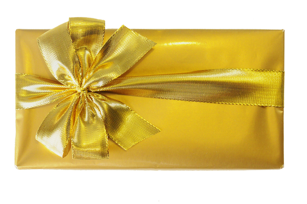 Golden gift box: golden gift box