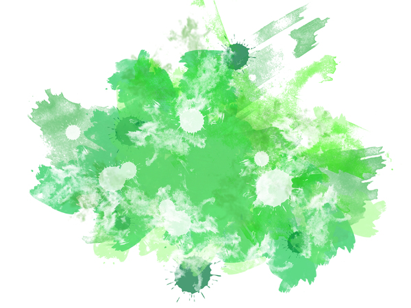 Abstract Splats 3: A grungy watercolour texture - digitally rendered.