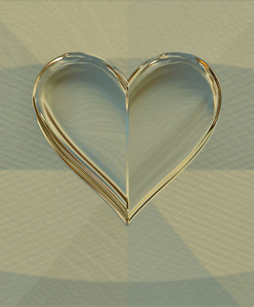 heart of gold2: abstract heart-shaped background, texture, patterns and perspectives