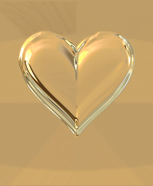 heart of gold1: abstract heart-shaped background, texture, patterns and perspectives