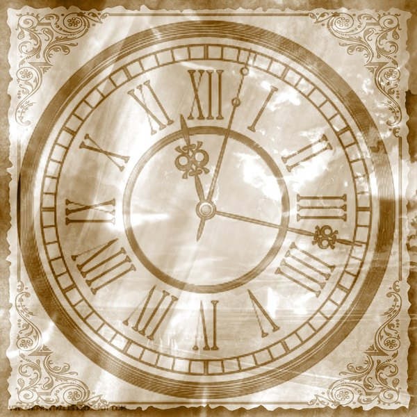 Clock Collage 2: A sepia coloured clock collage (made form a public domain image). You may prefer:  http://www.rgbstock.com/photo/nS52DM2/Fantasy+Clock+2  or:  http://www.rgbstock.com/photo/nsFIXsm/Clock