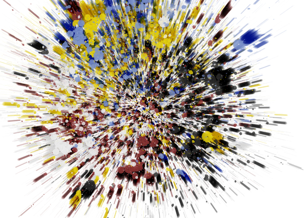 zoom splatter: color abstract splatter background