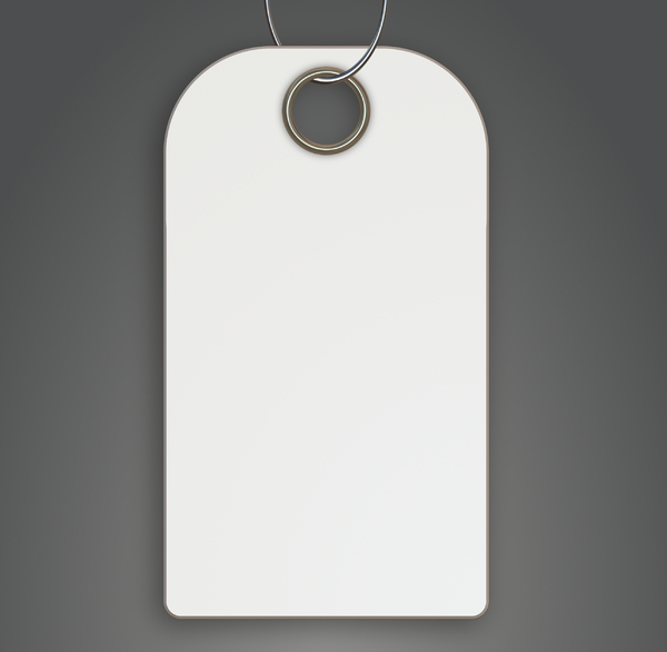 Blank Tag 2: A blank tag in white on a grey background, with a metallic hole and loop. You may prefer:  http://www.rgbstock.com/photo/nTvqWYw/Tag+7  or:  http://www.rgbstock.com/photo/nTvqYCM/Tag+6+Christmas