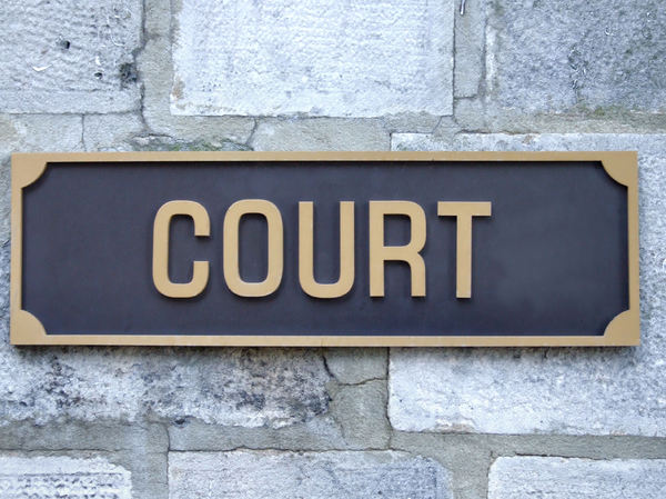 judgement2: sign outside law court