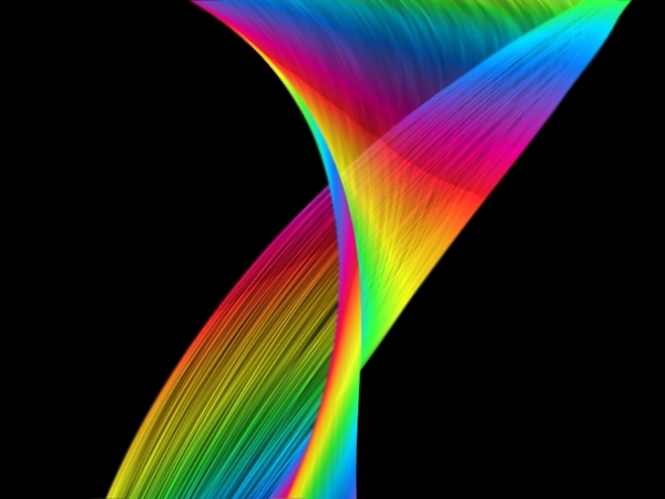 Decorative Wave 1: A decorative rainbow coloured wave against a black background. You may prefer:  http://www.rgbstock.com/photo/nVHQhy4/Rainbow+Swoosh+4  or:  http://www.rgbstock.com/photo/nGMI0Ey/Rainbow+Swirls+2