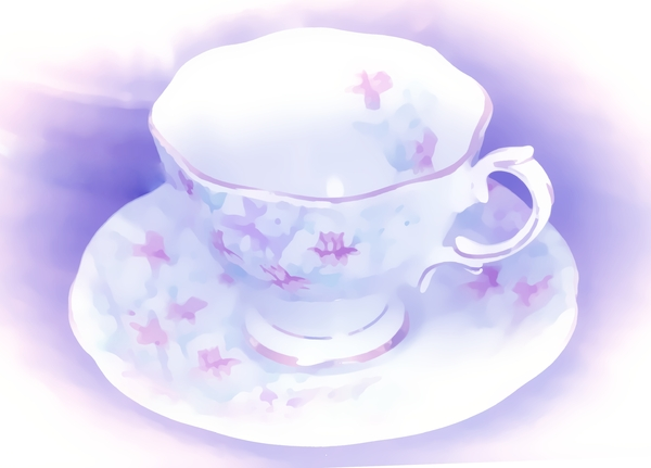 Teacup Painting 2: Made from a public domain image. My version is copyrighted to me. A painting of a dainty teacup and saucer. You may prefer:  http://www.rgbstock.com/photo/2dyVuxQ/Hot+Drink  or:  http://www.rgbstock.com/photo/2dyWtZC/Coffee+1