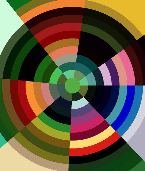 multicolored bullseye1: abstract backgrounds, textures, patterns, geometric patterns, kaleidoscopic patterns, circles, shapes and perspectives