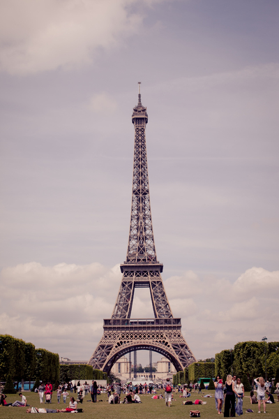 Eiffel Tower 1: View of the Eiffel Tower in Paris