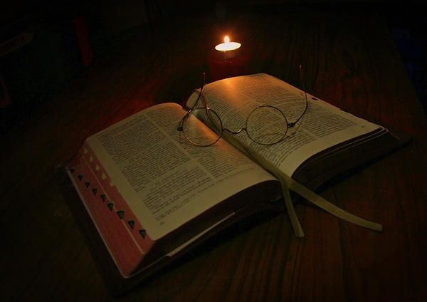 Candle Light Reading: Reading in Candle Light