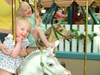 Girls on carousel