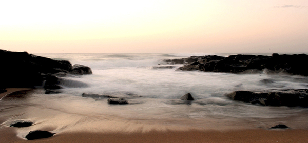 Waves Go Out: Long exposure at Ballito South Africa