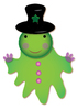 green cute ghost