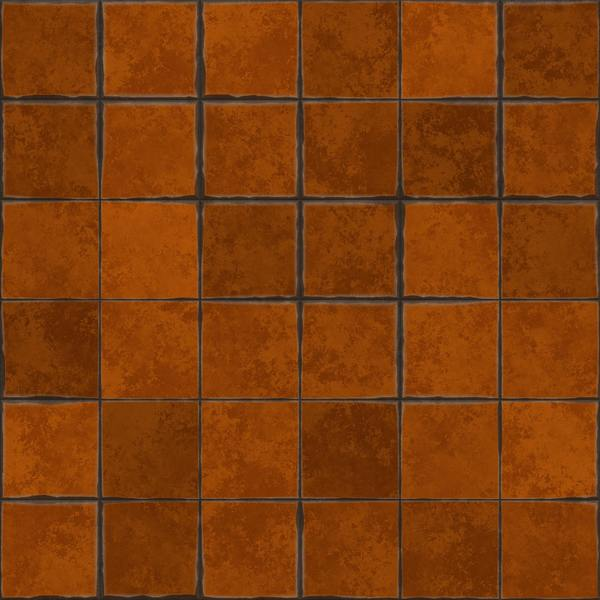 Black terracotta floor tiles