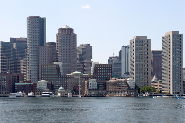 Boston's waterfront: Boston from the sea