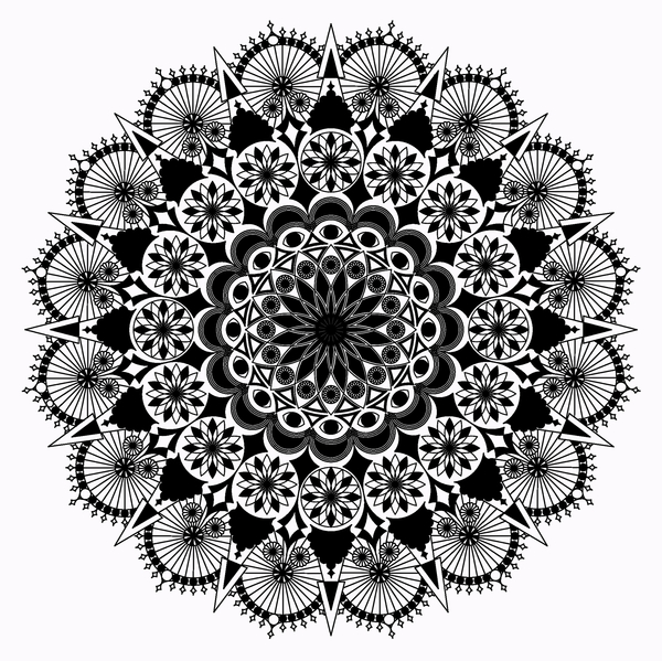 Mandala black and white: Mandala drawing black and white