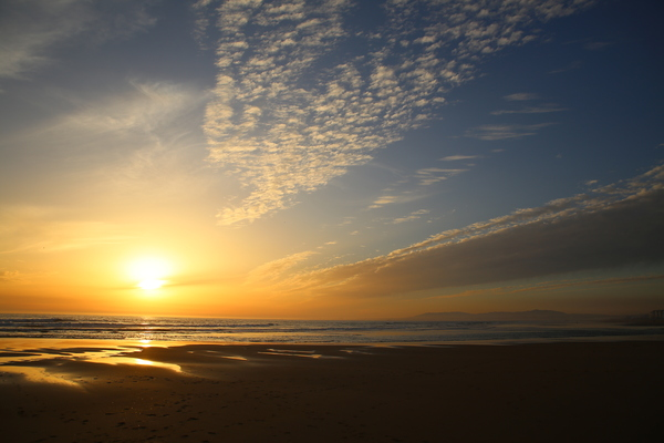 Sunset at the beach 2: Sunset at Caparica beach south of Lissabon