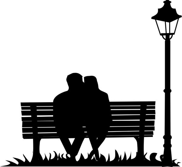 lovers silhouette: lovers silhouette on the bench, make your own compilation