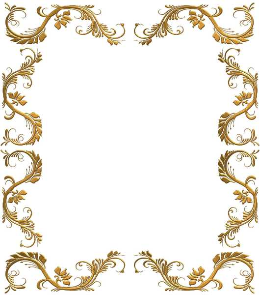 Golden Ornate Border 23: A golden ornate border or frame on a white background. Very elegant and old fashioned in a classic style. You may prefer:  http://www.rgbstock.com/photo/oESJGzw/Golden+Ornate+Border+22  or:  http://www.rgbstock.com/photo/p79wnOy/Golden+Celtic+Border+2