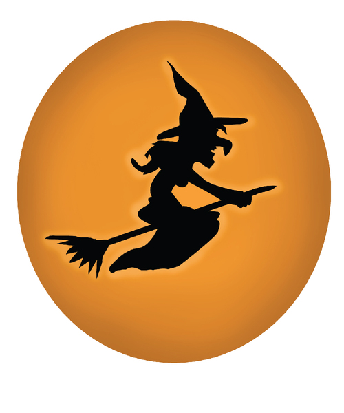 Halloween Witch Button: Halloween Witch Button
