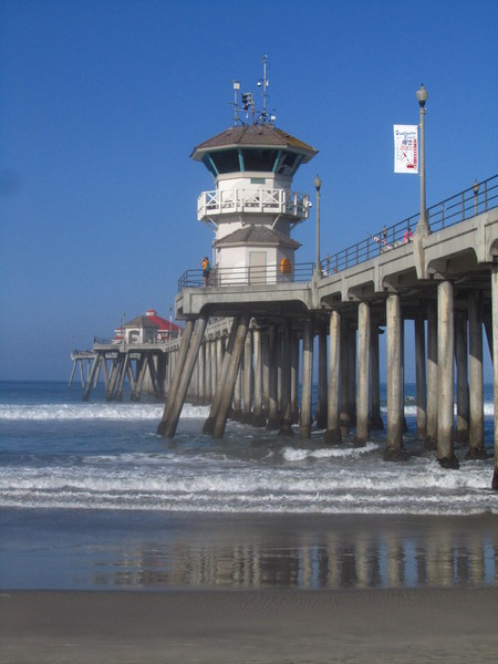 Huntington Beach Pier: Huntington Beach Pier at Huntington Beach, California