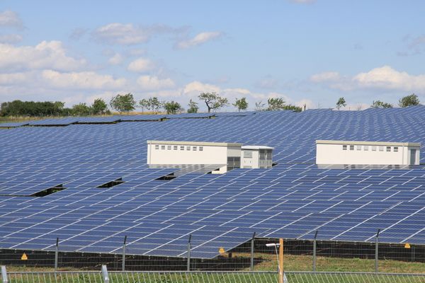 Solar panels: Solar panels to harvest energy as alternative to growing plants and harvest grain.