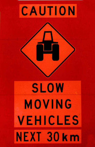Big Slow Moving Tractor Sign : Free stock photos rgbstock images slow